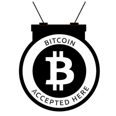 bitcoin_accepted_here_Round_Hanger_Black