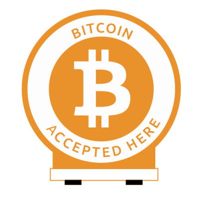 bitcoin_accepted_here_Round_Standee_Orange